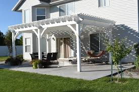 Pergola On Concrete Patio by 14 Wonderfully White Outdoor Shade Structures Western Timber Frame