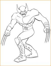 superhero coloring pages superhero x men wolverine coloring page