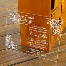 Engraved Wedding Invitations Acrylic Engrave Wedding Invitations Promotion Shop For Promotional