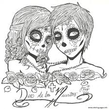 skull indian par valentin coloring pages for