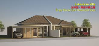 single storey semi detached house floor plan new single storey semi detached house in miri lakeshore villa