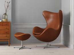 Cheap Leather Armchairs Uk Buy The Fritz Hansen Egg Lounge Chair Leather At Nest Co Uk