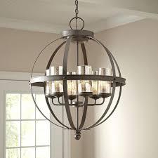 Globes For Chandelier Modern 6 Light Globe Chandelier Orb Pendant Lighting Glass Shades