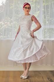 wedding dress trim 1950 s cordelia white wedding dress with a boat neck lace