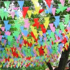 free shipping bunting decoration triangle flag string flags on