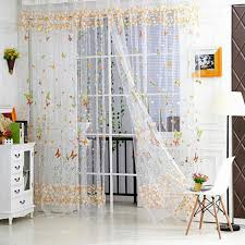 Panel Curtains Room Dividers New Style 100cm X 270cm Butterfly Print Sheer Window Panel