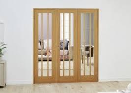 Folding Room Divider Lincoln Oak French Folding Room Divider Express Doors Direct