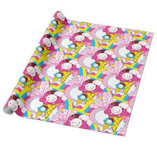 pretty wrapping paper summer popsicles frozen dessert treats wrapping paper