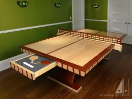 Custom Curly Maple And Padauk Ping Pong Table Woodworking Network - Designer ping pong table