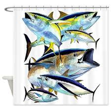 Fishing Shower Curtain Buy Cafepress Deep Sea Fishing Shower Curtain Standard White In