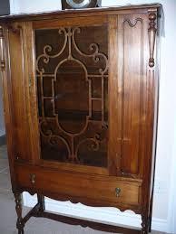Oak Curio Cabinets Curio Cabinet Lighted Oak Curio Cabinet We Are Downsizing Unique