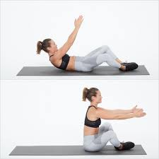 butterfly sit up bodyweight workout 20 minutes popsugar