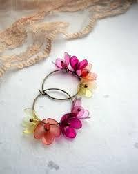 plastic bottle earrings diy flower earrings from plastic bottles great for all ages if you