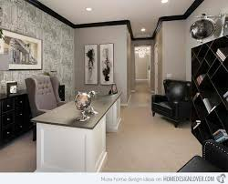 Ideas For Contemporary Gray Home Office Designs Home Design Lover - Designer home office