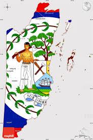 Guadalupe Flag Flag Simple Map Of Belize Flag Centered