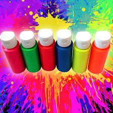 hanging off the wire blacklight neon paint set intense fluorescent