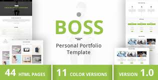 personal portfolio template boss personal portfolio template dueza com