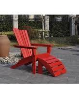 deal alert black 2 piece adirondack wood chair side table set