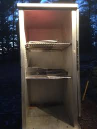 Meat Curing Cabinet Old Box Turned Into A Cold Smoker Curing Chamber Smoking