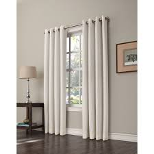 Allen Roth Curtain Shop Allen Roth Romanby 84 In Ivory Polyester Grommet Room 1 2
