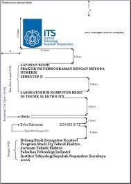 format laporan praktikum asisten nduwur format laporan