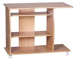 Schreibtisch In Buche A069 Schreibtisch Bürotisch Mit Rollen 90x71x50cm Buche