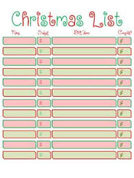 christmas gift shopping list a christmas shopping list the looneychick
