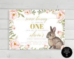 rabbit birthday bunny birthday etsy