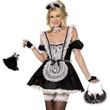 French Maid Halloween Costumes Buy Women U0027s Black White French Maid Costume Apron