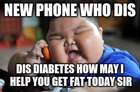 New Phone Meme - fat kid on phone imgflip