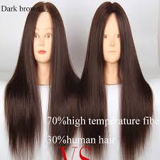 dark hair after 70 freeshiping 22 70 high temperature synthetic fiber 30 human hair
