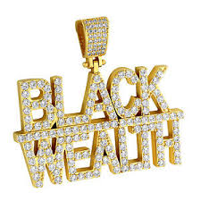 custom pendant black wealth custom hip hop rapper pendant bling men simulated