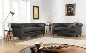 Chesterfield Sofa Cheap Hton Leather Chesterfield Sofa Suite 3 2 Seater Brown Only