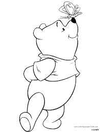 Winnie The Pooh Color Page Disney Coloring Pages Color Plate Plate Coloring Page