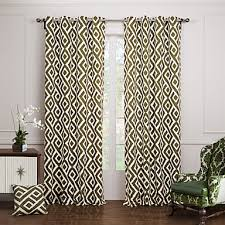 two panels curtain modern bedroom cotton material curtains drapes