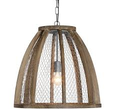 Wire Pendant Light Chicken Wire Pendant Light Antique Farmhouse