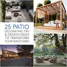 Backyard Outdoor Living Ideas 25 Patio Decorating Tips U0026 Design Ideas To Transform Your Backyard