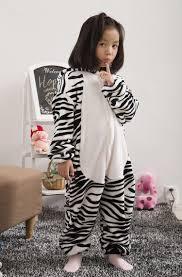 zebra halloween costume freeshipping 2016 new children pajamas little zebra baby hooded