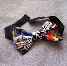 sugar skull mens tie in black day of the dead dia de