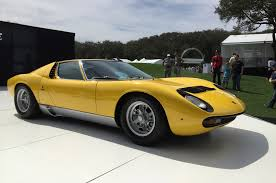 lamborghini miura lamborghini miura rings in 50th birthday