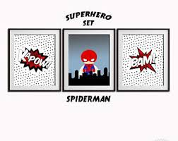 spiderman wall art etsy