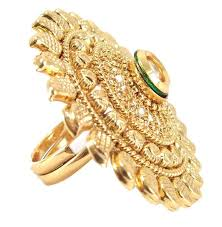 finger gold rings images Buy maharani style kundan gold plated adjustable finger ring online jpg