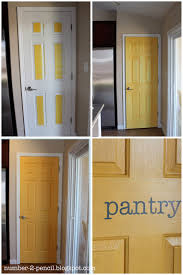 yellow pantry door makeover no 2 pencil