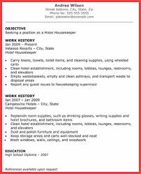 House Cleaner Resume Sample by Resume For House Cleaner