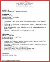 Hospital Housekeeping Resume Skills Housekeeping Skills Resume Memo Example