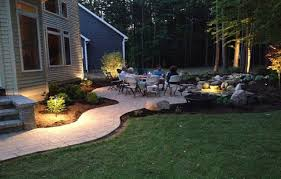Paver Ideas For Backyard Awesome Paver Patio Design Backyard With Pond Steps And Led