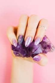 geode amethyst nail tutorial manicure diy bespoke bride wedding