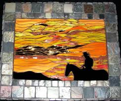 Stained Glass Backsplash by 29 Best Mosaic Sunsets Images On Pinterest Stained Glass
