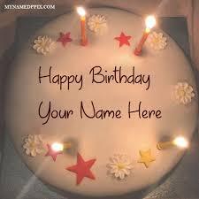 name on birthday candles decoration cake wishes photo