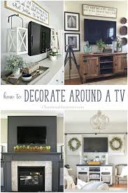 decorate pictures how to decorate around a tv christinas adventures